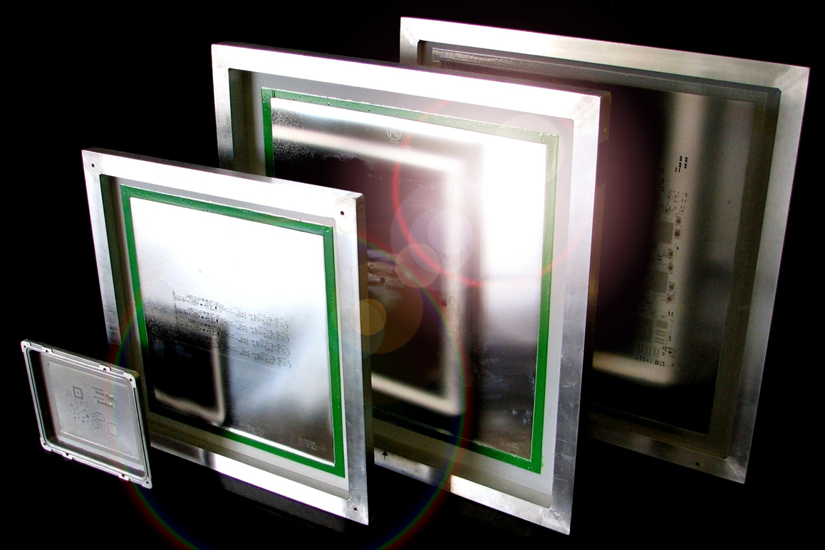 Framed stencils for use with automatic screen printers like dek mounting a stencil on a meshed frame jeuxipadfo Image collections
